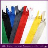 Zíper invisível de nylon de cadeia longa Zipper Rolos para vestuário, têxteis lar