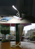 Toque em leito USB regulável de protecção ocular candeeiro de mesa LED