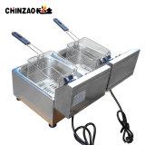 La restauration commerciale de l'équipement électrique double réservoir Fryer (DZL-20C)