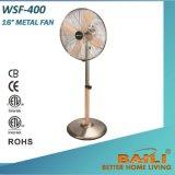 Baili 16 Zoll-Metallventilator mit hölzerner Farbanstrich-Schaufel