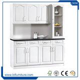Moderne Zwarte Kleur 3 van de Raad van het Deeltje van het Meubilair van de Keuken de Keukenkast van de Deur