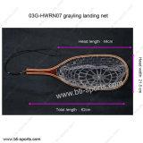 Qualitätgrayling-Fliegen-Fischen-Landung-Netz