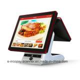 "Icp-Ew10sj doble de alta calidad de la pantalla táctil capacitiva de caja registradora para POS supermercado/Sistema/restaurante/Retail (15""+9,7"")."