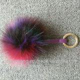 Billes pendantes de fourrure de la fourrure de Fox de Faux de téléphone de la fourrure POM de lapin de trousseau de clés POM