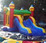 子供のための5.5*3.5*3.7mの小さい弾力がある家、安い価格の子供のための少し膨脹可能な城の警備員