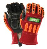 アークフラッシュ溶接のための抵抗力があるTPR反影響の安全作業手袋