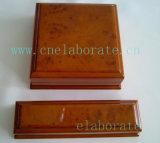 Cadres de bijou en bois en bois de cadre de bijou de boîte-cadeau fabriquée à la main en bois