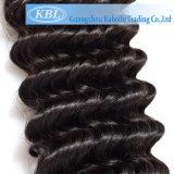 Продукт человеческих волос девственницы самого лучшего качества свободный курчавый бразильский