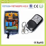 Contrôleur éloigné universel à télécommande de rf pour les obturateurs de /Rolling de portes de garage/rideaux automatiques Yet402PC-V2.0