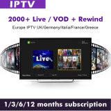 1 het Abonnement van het jaar IPTV met Films VOD & Levende TV omvatten Kanalen van Brits Duitsland Turckey IPTV van Sporten de Arabische