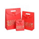 Переработанных роскошь малых искусства бумажных мешков для пыли в красный
