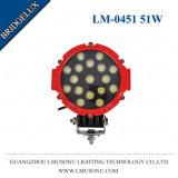 Schwarzes/Arbeits-Licht des Rot-6.3 rundes nicht für den Straßenverkehr LED des Zoll-51W