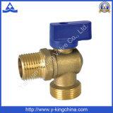 Robinet à tournant sphérique en laiton de cornière pour le gaz (YD-1033)