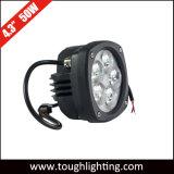 E-Aprobado 4.5inch Semi-Round 50W de luz de trabajo compacto LED