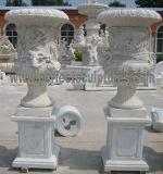 Jardín, Flor de Piedra Jarrón con jarrón de mármol (QFP328)