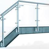 Pasamanos de cristal de la barandilla/de la escalera del balcón exterior del acero inoxidable de China/pasamanos al aire libre de la escalera