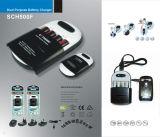 cargador de batería de emergencia para teléfono móvil, MP5,AA y AAA cargador de batería Ni-CD con el auto -Discharing