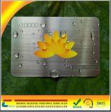 Biglietto da visita del metallo dell'acciaio inossidabile