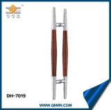 Vetro dei montaggi SUS304 del portello e maniglia di portello di legno (DH-7019)