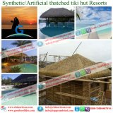 Tiki小屋のTiki棒艶出しリゾート9のための総合的なやし屋根ふき材料の人工的な屋根ふき材料
