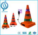 LED 번쩍이는 철회 가능한 소통량 콘