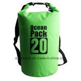 Sac sec imperméable à l'eau de flottement, paquet se pliant d'océan de sac