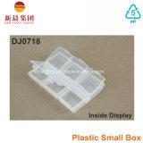 小さいアクセサリのプラスチックの箱