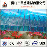 Hoja de la PC de la hoja de la depresión del policarbonato de la Gemelo-Pared de China para el invernadero de la agricultura y la vertiente de la cría