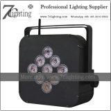 Voyants LED de batterie 9 Rgbwauv Mariage de décoration d'éclairage sans fil