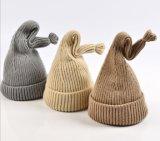 De herfst en de de Winter Gebogen Zoete Wol van de Hoed van de Kinderen van de Hoed van de Staart Warme breien Hoed