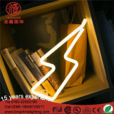 Da lâmpada Shaped do diodo emissor de luz do relâmpago luz de néon da noite para a decoração do quarto do bebê