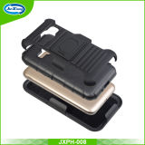 小型Samsung J1のための黒く堅いプラスチックシリコーンの装甲ホルスターのコンボの箱