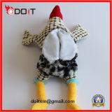 Juguetes durables rellenos suaves chillones del animal doméstico de la felpa de la dentición del corcho para los perros