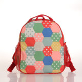 Canvas imperméable en PVC Sac à rayures colorées à motif Hexagons (A035)