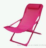 현대 안뜰 정원 여가 가구 Textilene 뒤 백색 완료를 가진 옥외 라운지용 의자