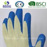 doublure de 10g Kevlar avec les gants secs de travail d'enduit de latex d'adhérence