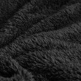 Ly064新しい方法冬のフード付きのウサギの毛皮のコートの長い女性夜会服