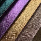 Cuoio lucido dell'unità di elaborazione di Saffiano per la fabbricazione dei sacchetti