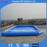 Синий надувной бассейн для водного парка плавающего режима игры