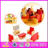 Brinquedos baratos para móveis de casa de boneca Kids Wooden W06A120
