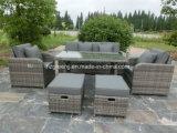 6 parti del gas del Recliner del sofà del giardino della mobilia stabilita del rattan