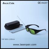 Transmitância elevada 60% dos óculos de segurança de laser de 808nm 980nm 1064nm Laser dentária & os diodos laser Nd: YAG (YHP 800-1100nm) com moldura preta 33