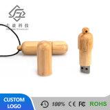 Marchio corporativo del USB di stile cinese dell'istantaneo dell'azionamento del bastone personalizzabile di legno del USB che fa pubblicità all'esplosione al minuto del regalo