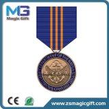 Médaille personnalisée de militaires d'étoile en métal de logo
