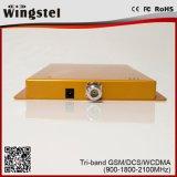 DCS superventas WCDMA 900 de 2017 G/M 1800 aumentador de presión de la señal de 2100MHz 2g/3G/4G