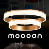 현대 호화스러운 금 거실을%s 알루미늄 원형 LED 펀던트 Selfie 반지 빛