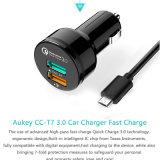 Наличие 5V/9V/12V Автомобил-Заряжателя обязанности 3.0 USB Qualcomm заряжателя автомобиля Aukey двойные быстро быстрое для Xiaomi LG Meizu Samsung HTC LG