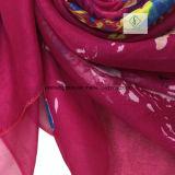 2017 Новый пляж шаль печатных цветов леди мода шелковые шарфы