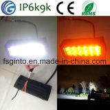 Hot Sale orange/blanc double barre lumineuse à LED de couleur
