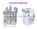 38PCS de spiegel poetste de Eersteklas Markt van Iran van het Vaatwerk van het Bestek van het Roestvrij staal (cw-C1004) op